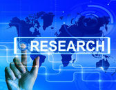 Research Map Displays Internet Researcher or Experimental Analyz — Stock Photo