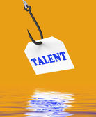 Talent On Hook Displays Special Skills And Abilities — Stock Photo