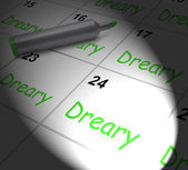Dreary Calendar Displays Monotonous Dull And Uneventful — Stock Photo