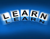 Learn Blocks Displays Education Studying and Learning — Stock Photo