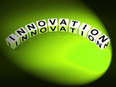 Innovation Letters Mean Improvements And New Developments — Stock Photo