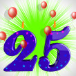 Number Twenty Five Party Show Burning Candles Or Bright Flame — Stock Photo #47471631