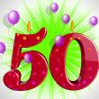 Number Fifty Party Show Fiftieth Birthday Candles Or Celebration — Stock Photo #47472681