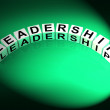 Leadership Letters Mean Guidance Influence And Management — Stock Photo