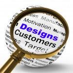 Designs Magnifier Definition Means Architecture And Patterns Des — Stock Photo