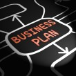 Business Plan Arrows Means Goals And Strategies For Company — Stock Photo #47476967