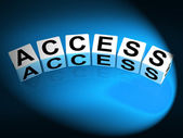 Access Dice Show Admittance Accessibility and Entry — Stock Photo