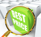лучшая цена пакета представляет собой сделок и скидки — Стоковое фото