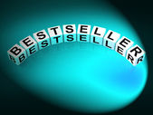Bestseller Letters Show Most Popular And Hot Item — Stock Photo