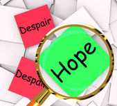Hope Despair Post-It Papers Show Hoping Or Depression — Stock Photo