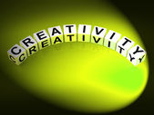 Creativity Letters Mean Inventiveness Inspiration And Ideas — Stock Photo