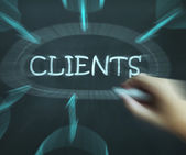 Clients Diagram Shows Customers Consumers And Clientele — Stock Photo