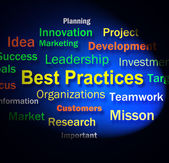 Best Practices Words Shows Optimum Business Procedures — Stock Photo