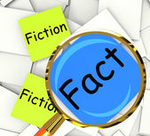 Fact Fiction Post-It Papers Mean Correct Or Falsehood — Stock Photo