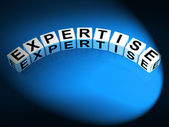 Expertise Dice Mean Expert Skills Training and Proficiency — Stock Photo