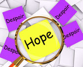 Hope Despair Post-It Papers Show Longing And Desperation — Stock Photo