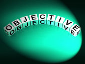 Objective Dice Mean Goals Targets and Objectives — Foto de Stock