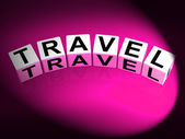 Travel Dice Show Traveling Touring and Trips — Stock Photo