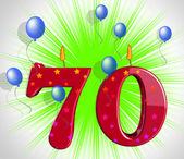 Number Seventy Party Mean Special Anniversary Or Birthday Party — Stock Photo