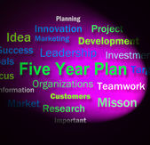 Five Year Plan Words Means Strategy For Next 5 Years — Stock Photo