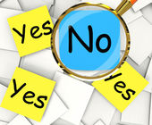Yes No Post-It Papers Show Agree Or Disagree — Stock Photo