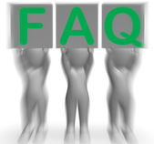FAQ Placards Shows Frequent Assistance And Support — Stock Photo