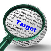 Target Magnifier Definition Means Business Goals And Objectives — Foto de Stock