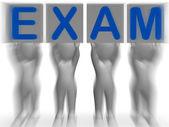 Examen pancartes signifie questionnaire extrême ou un examen — Photo