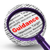 Guidance Magnifier Definition Means Counselling And Help — Stock Photo
