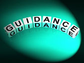 Guidance Dice Show Guiding Advising and Directing — Stock Photo