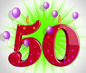 Number Fifty Party Show Fiftieth Birthday Candles Or Celebration — Stock Photo