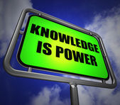 Knowledge is Power Signpost Represents Education and Development — Stock Photo