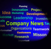 Company News Words Shows Whats New In Business — Stock Photo