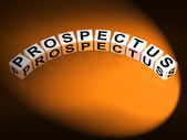 Prospectus Dice Show Brochures that Advertise Inform and Describ — Stock Photo