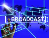 Broadcast Screen Shows International Broadcasting and Transmissi — Stockfoto