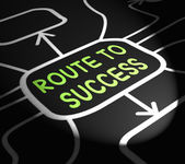Route To Success Arrows Shows Path For Achievement — Stock Photo
