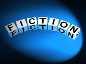Fiction Dice Show Fictional Tale Narrative or Novel — Stock Photo
