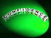 Confidence Letters Mean Believe In Yourself And Certainty — Stock Photo