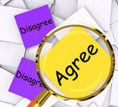 Agree Disagree Post-It Papers Show In Favor Of Or Against — Stock Photo