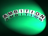 Ambition Dice Show Targets Ambitions and Aspiration — Stock Photo
