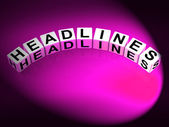 Headlines Dice Mean Feature Header and Heading — Stock Photo