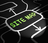 Site Map Arrows Means Navigating Around Website — Stock Photo