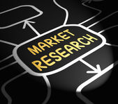 Market Research Arrows Shows Inquiring About Consumers Opinions — 图库照片