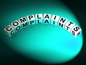 Complaints Letters Means Dissatisfied Angry And Criticism — Stock Photo