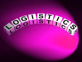 Logistics Dice Show Logistical Strategies and Plans — 图库照片