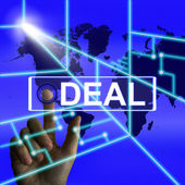 Deal Screen Refers to Worldwide or International Agreement — Stockfoto