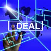 Deal Screen Refers to Worldwide or International Agreement — Zdjęcie stockowe