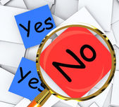 Yes No Post-It Papers Show Accept Or Decline — Stock Photo