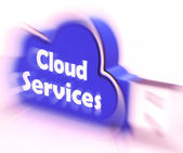 Cloud Services Cloud USB drive Shows Online Computing Services — Stock Photo