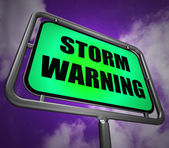 Storm Warning Signpost Represents Forecasting Danger Ahead — Stock Photo